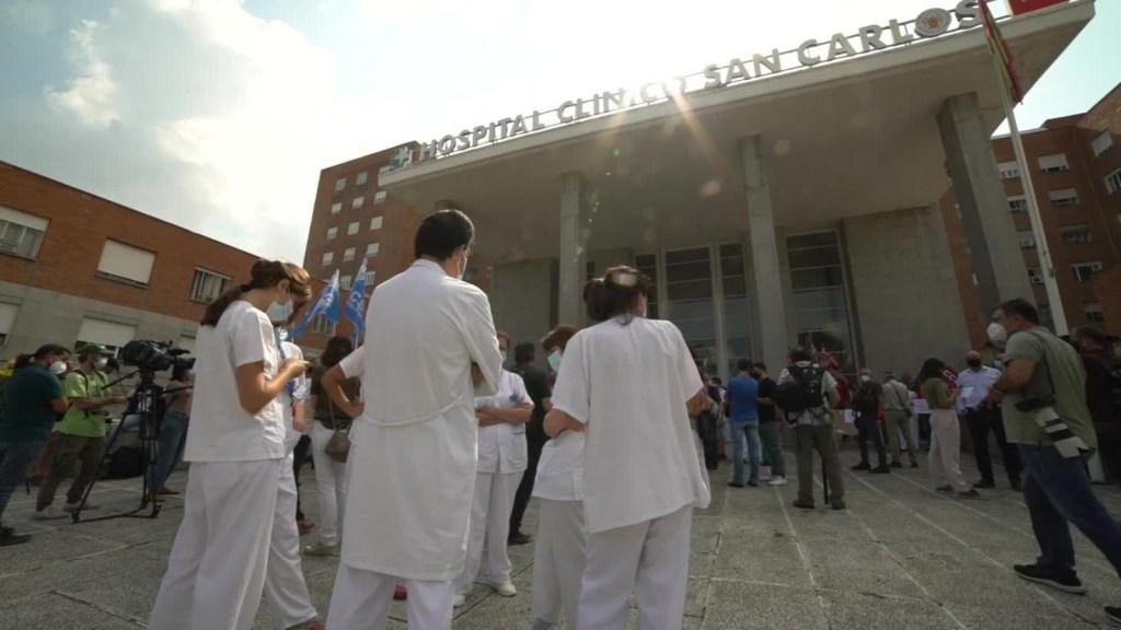 Personal sanitario de Madrid exige garantías laborales