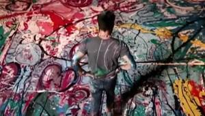 1.980 metros cuadrados de pintura y la Catrina de Barbie