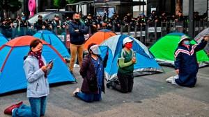 Oposición en México se manifiesta contra AMLO