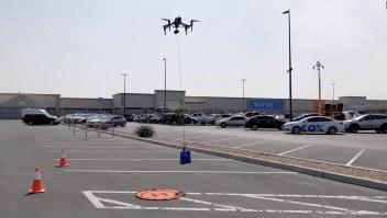 Walmart usa drones para entregar pruebas de covid-19
