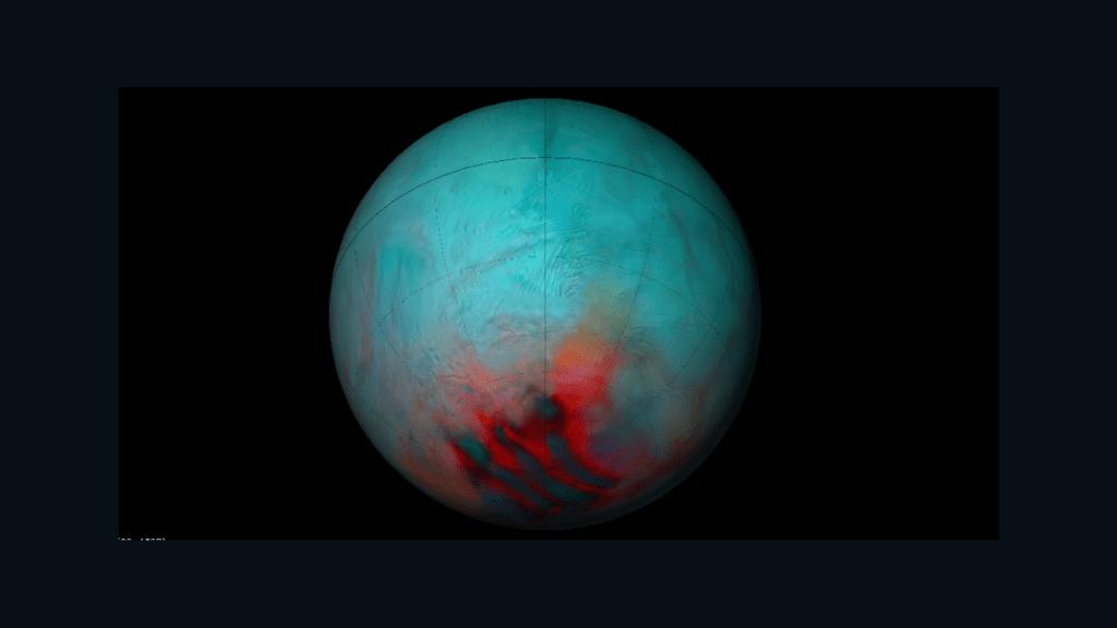Impresionante, así luce la luna de Saturno