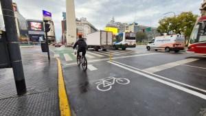 Las bicicletas llegan al Obelisco