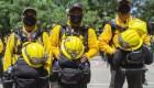 Bomberos mexicanos ayudan a luchar contra incendios en California