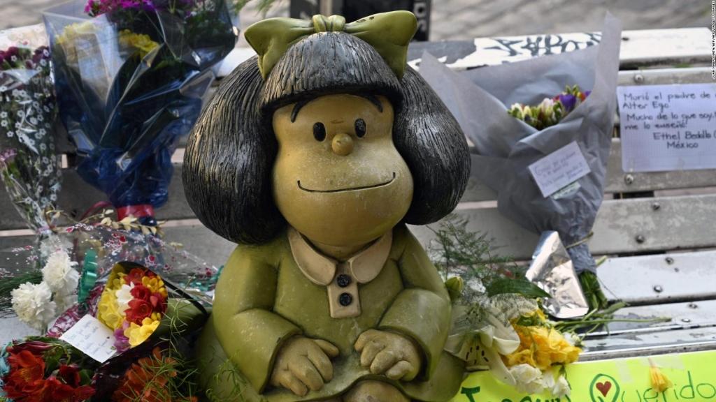 Argentinos despiden a Quino junto a Mafalda