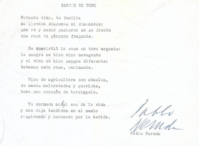 Revelan Manuscrito Original Del Poeta Chileno Pablo Neruda