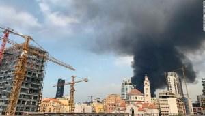 Beirut incendio puerto explosión