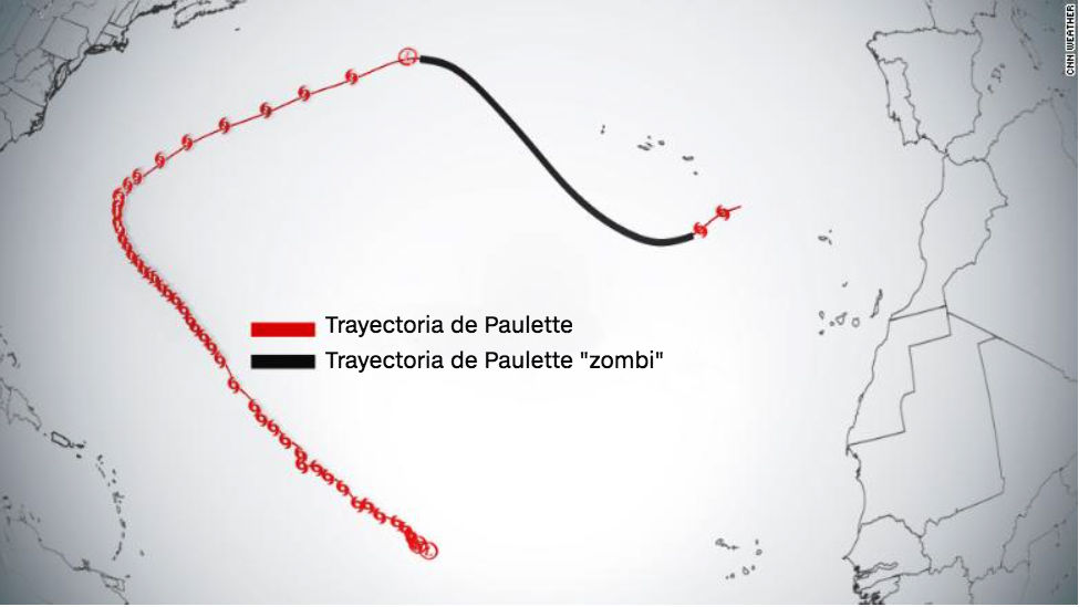 paulette tormenta zombi atlantico temporada de huracanes1
