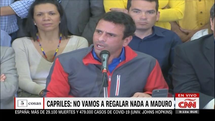 5 cosas: Capriles desmiente negociaciones con Maduro