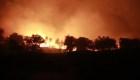 Incendio arrasa campo refugiados isla Lesbos Grecia
