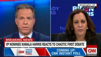 """Kamala Harris, sobre Joe Biden: """"Habló respetando a todo el mundo y unificando al país"""""""