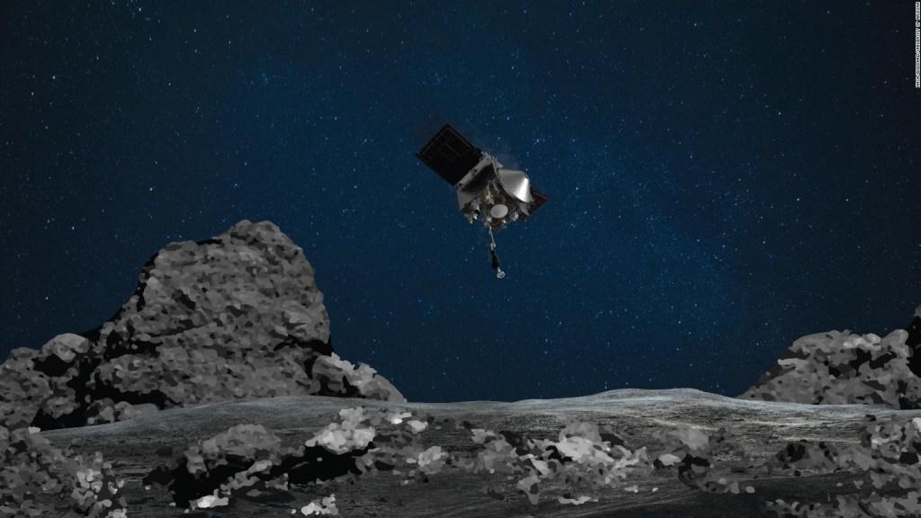 Nave de la NASA protege muestra de asteroide Bennu