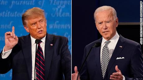 Trump y Biden chocan para un segundo debate