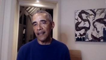 Barack Obama estuvo en las gradas virtuales de la NBA