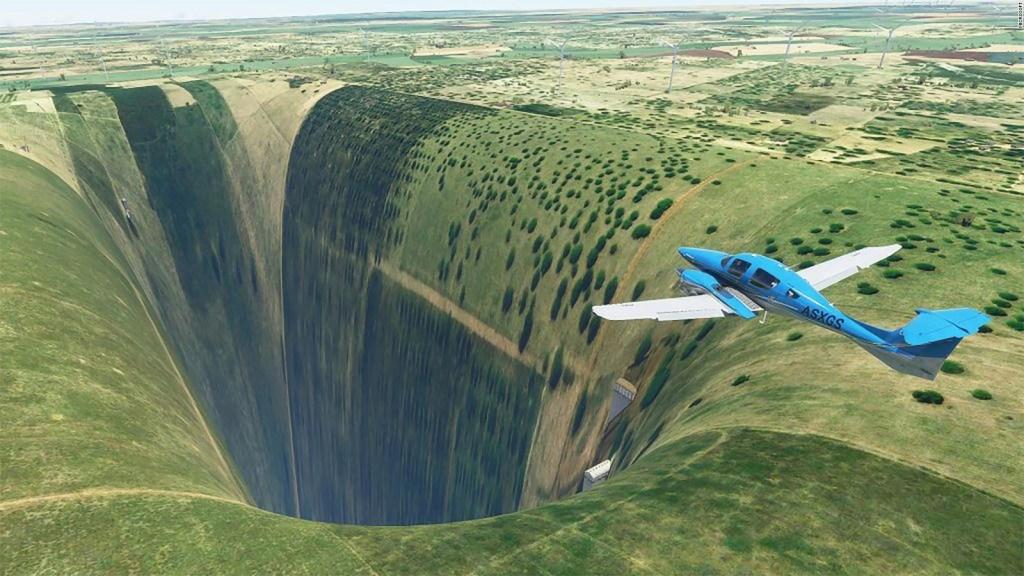 El aterrador abismo en el simulador de vuelo Microsoft