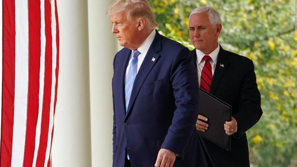 ¿Trump dejará el poder debido al covid-19?