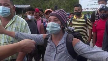 Caravana migrante, hacia México desde Guatemala