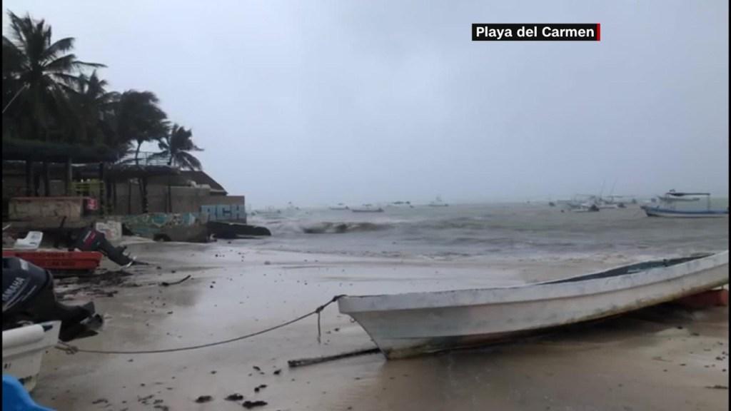 La tormenta tropical Gamma llega a México