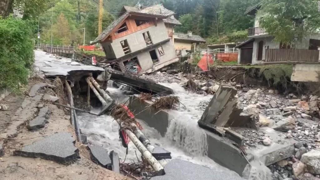 Devastación en Francia e Italia por paso de tormenta
