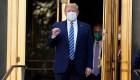 Así salió el presidente Donald Trump del hospital