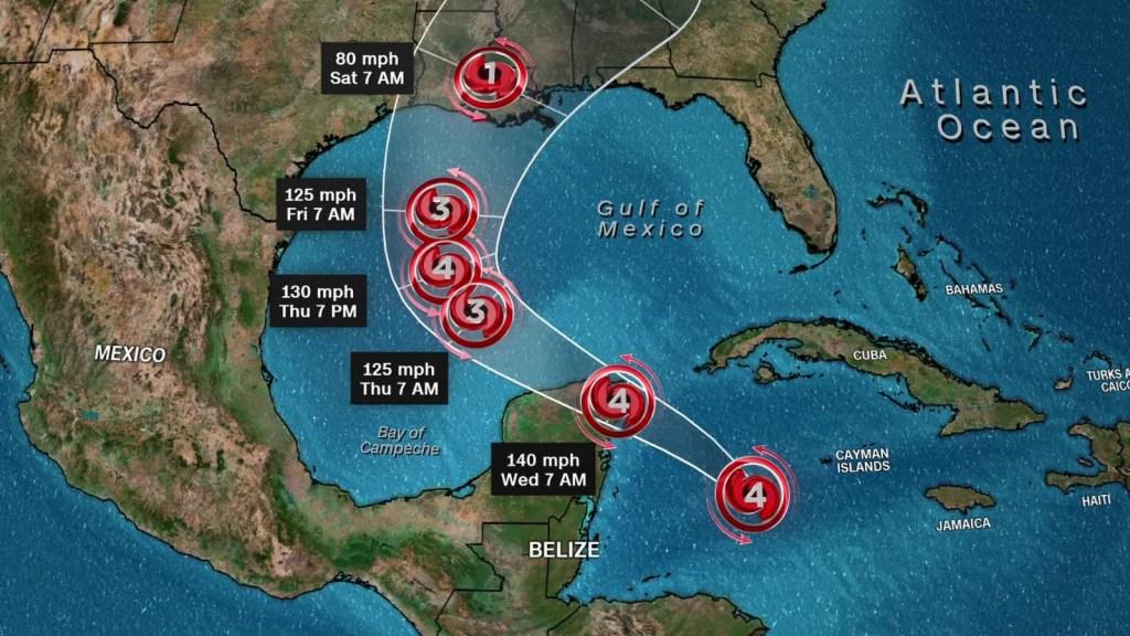 Prevén que huracán Delta toque tierra en EE.UU. el viernes