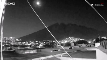 Avistan un supuesto meteorito en México