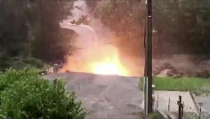 Impactantes imágenes de explosión de un puente en Francia