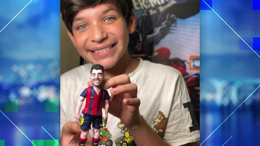 Josué, el niño venezolano que hace arte con plastilina