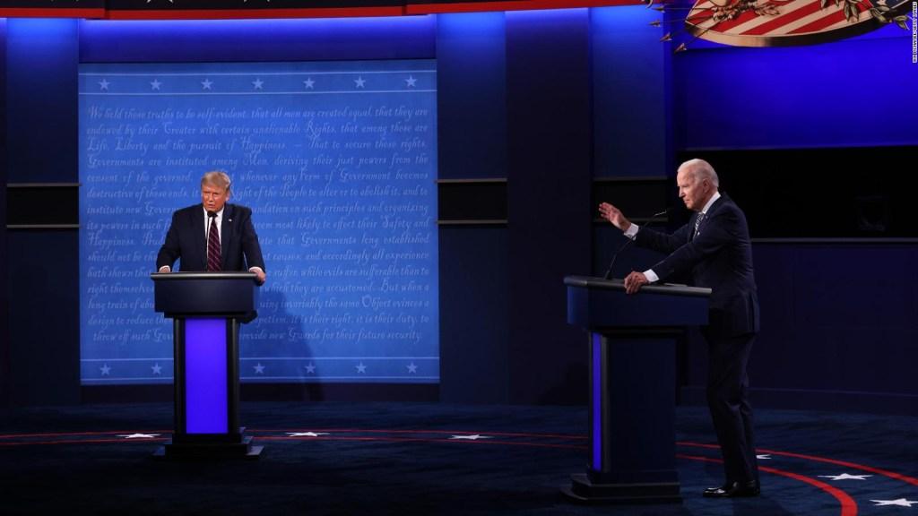Trump y Biden enfrentados en las pantallas de televisión