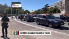 Protestas por el estado de alarma en Madrid