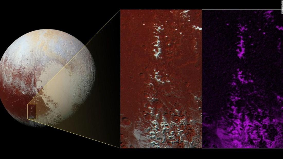 Las 'montañas nevadas' de Plutón no son lo que parecen