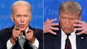 Encuesta: Biden 53% frente al 42% de Trump en intención de voto