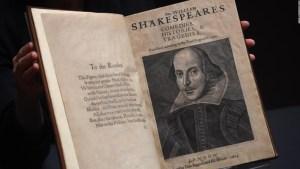Colección de obras de Shakespeare alcanza precio récord