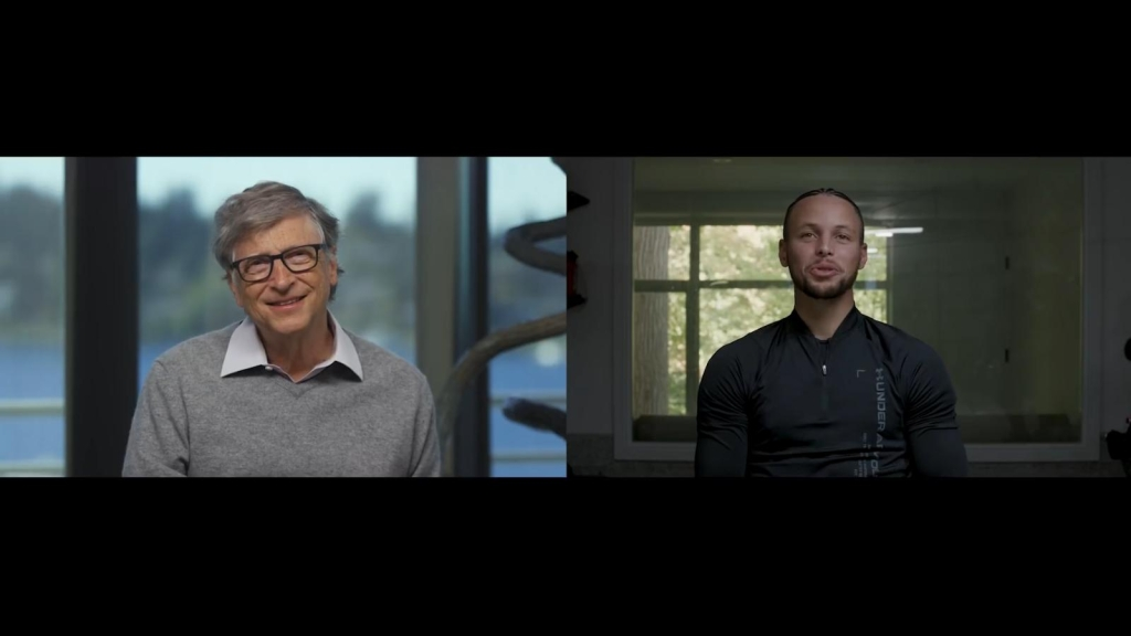 Steph Curry le hace una entrevista de trabajo a Bill Gates