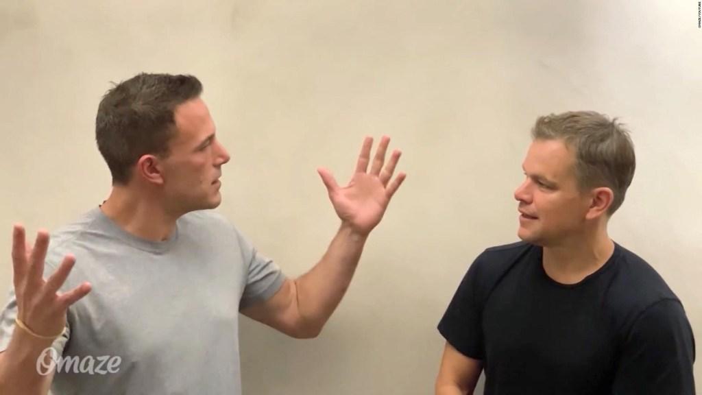 Mira la broma de Matt Damon a Ben Affleck sobre 'Batman'