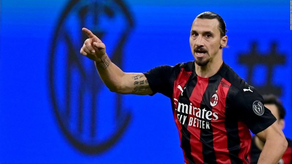 Zlatan, con 39 años, goleador y decisivo