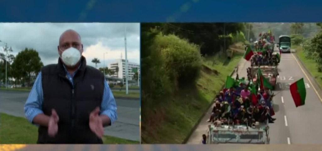 """La """"minga indígena"""" llega a Bogotá"""