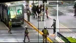 Chile: 18 policías heridos en manifestaciones