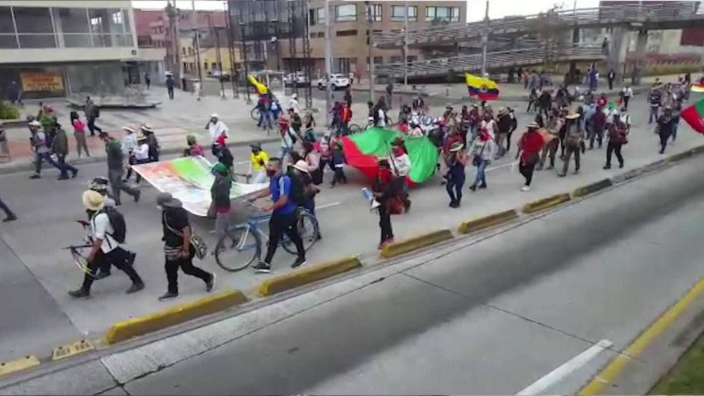 La minga indígena desafía al covid-19 para protestar