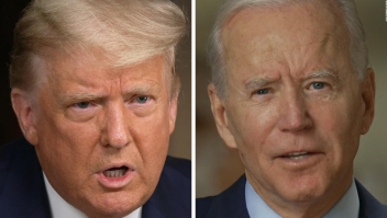 Trump insulta a Biden con video alterado por sus seguidores