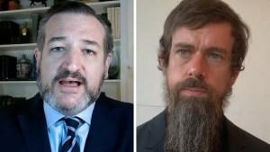 Ted Cruz ataca a Jack Dorsey, director de Twitter