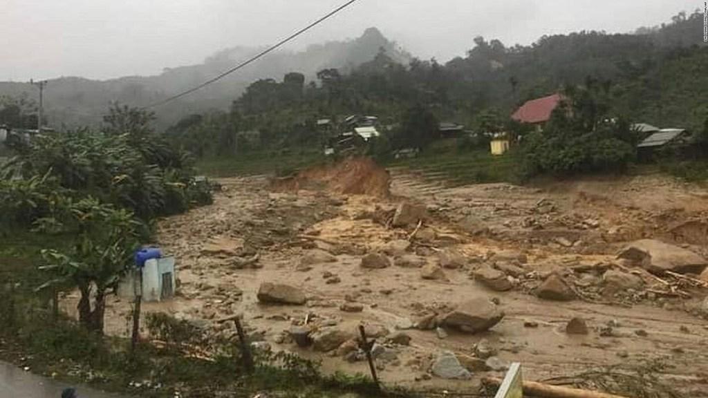 El tifón Molave azota Vietnam
