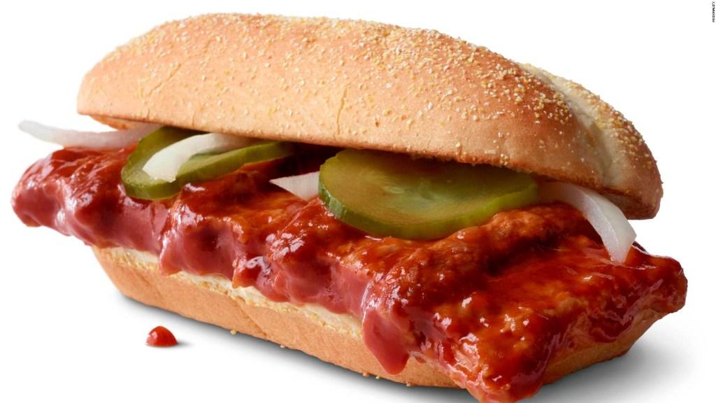 Vuelve el McRib de McDonald's