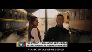 Tini Stoessel y Alejandro Sanz, juntos