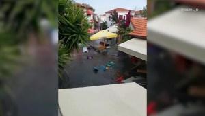 Tras terremoto, fuerte inundación en Turquía