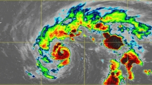 Tormenta Epsilon se fortalece a huracán categoría 1