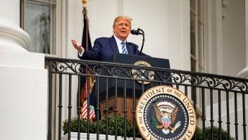 Trump dice que dio negativo a covid