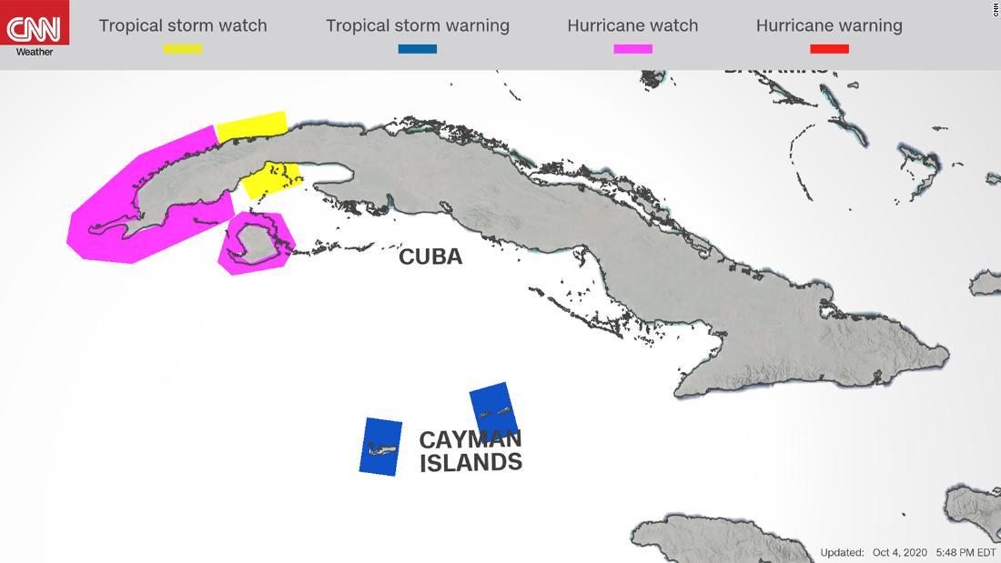 Alerta de huracán emitida a medida que un sistema de tormenta se prepara en el Caribe