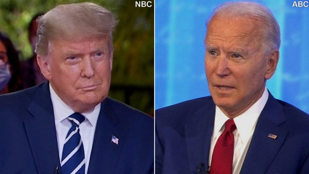 5 conclusiones del duelo de foros de Biden y Trump