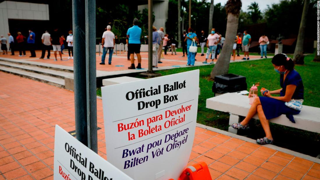 Los republicanos están reduciendo la brecha de votación anticipada en estos estados