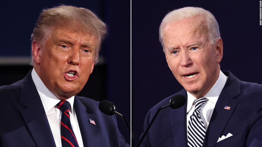 Estas son las palabras asociadas a Trump y Biden a medida que la campaña 2020 se acerca al final